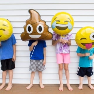 Emoji Balloon Photo Props