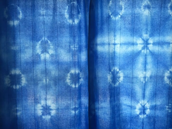 blue tie dyed curtains, how to and tips
