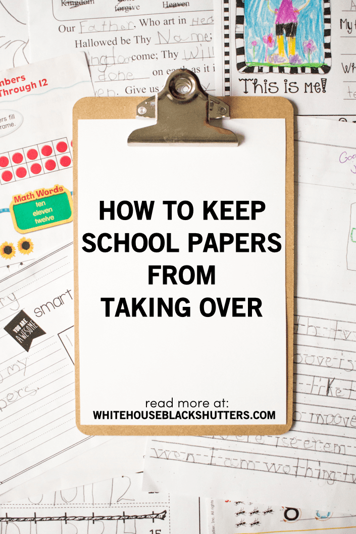 How to keep the school papers from taking over! Tips and organizing tricks from a family of 7.