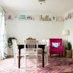 Oh wow, I love this unused dining room turned family space!