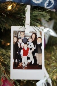 Take photos from the year and use as Christmas tree ornaments!
