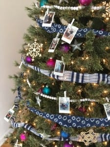 How to decorate a colorful, eclectic family photo tree.