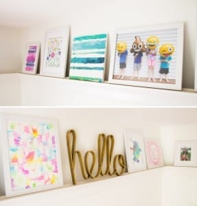picture ledges for kids artwork, I love this!