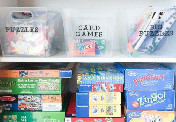 board game organization and storage