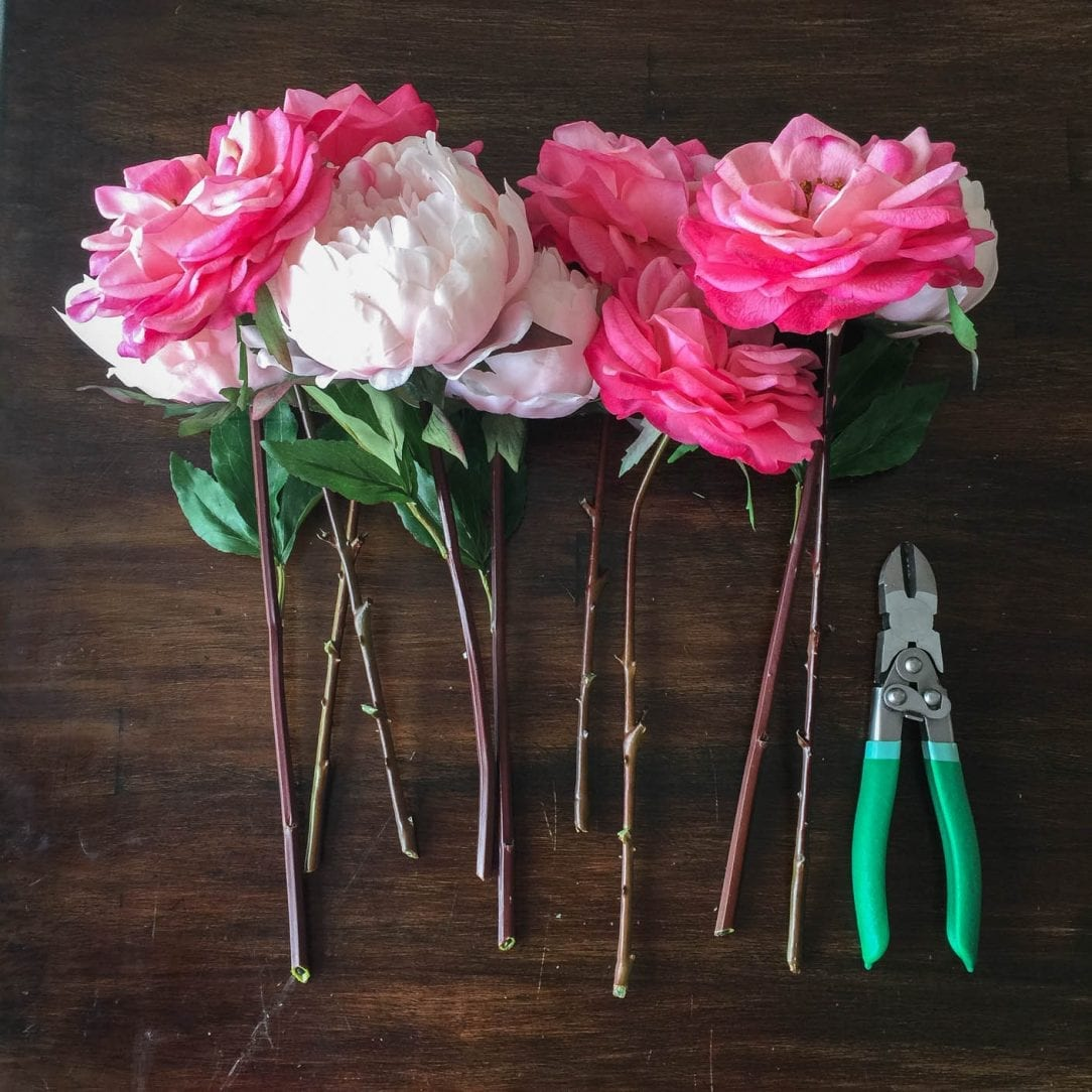 tips for using fake flowers and greenery, how to arrange them so they look real