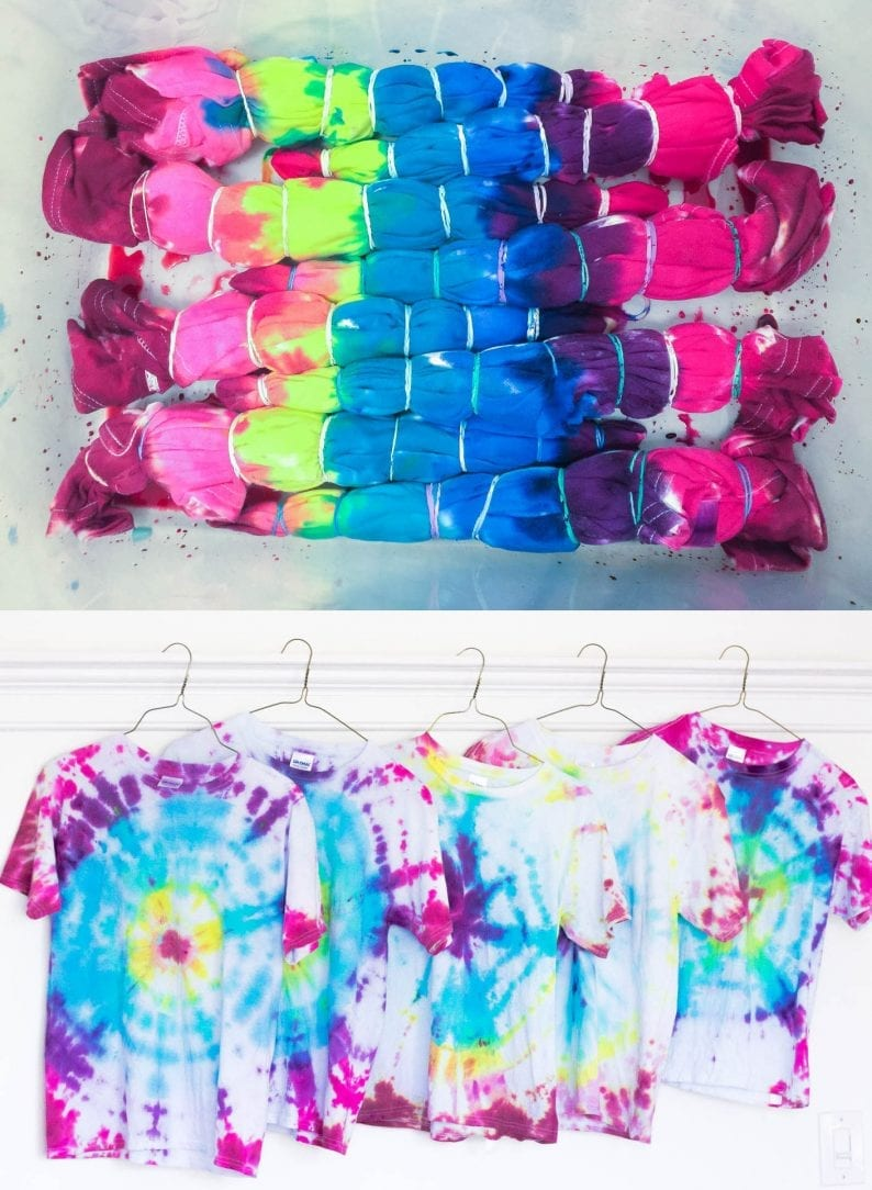 Tie-Dye Shirt Birthday Party Favors - white house black shutters