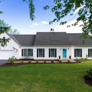 We're Moving – Our White House with Black Shutters is for Sale!