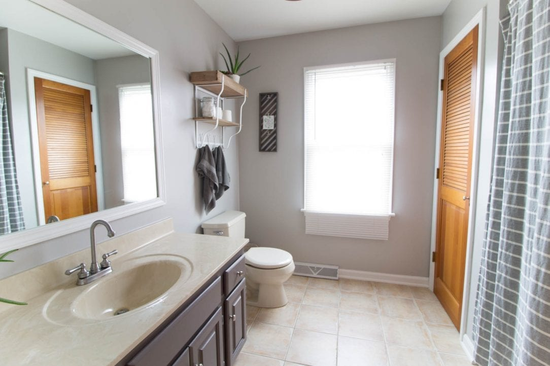 bathroom remodel with paint, under 300 dollars