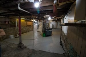 before of our old basement, what we plan to do to update it.