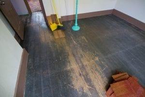 master bedroom flooring before