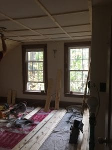 master bedroom ceiling going up