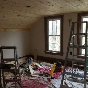 xmaster bedroom planked ceiling progress
