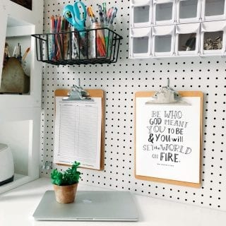 Simple Home Office Organization