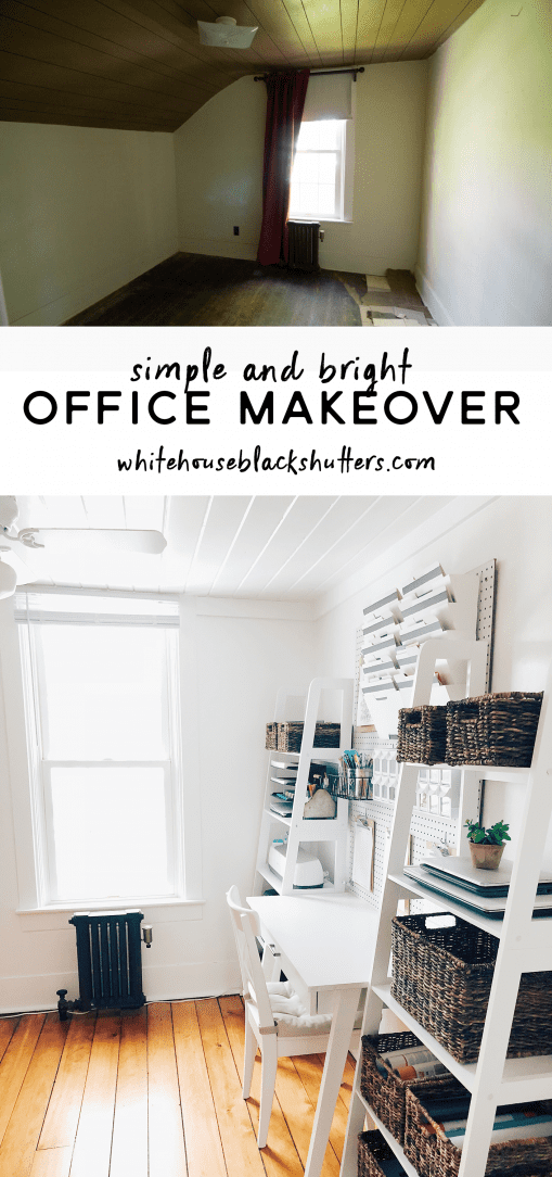 Simple home office organization white house black shutters The most organized home