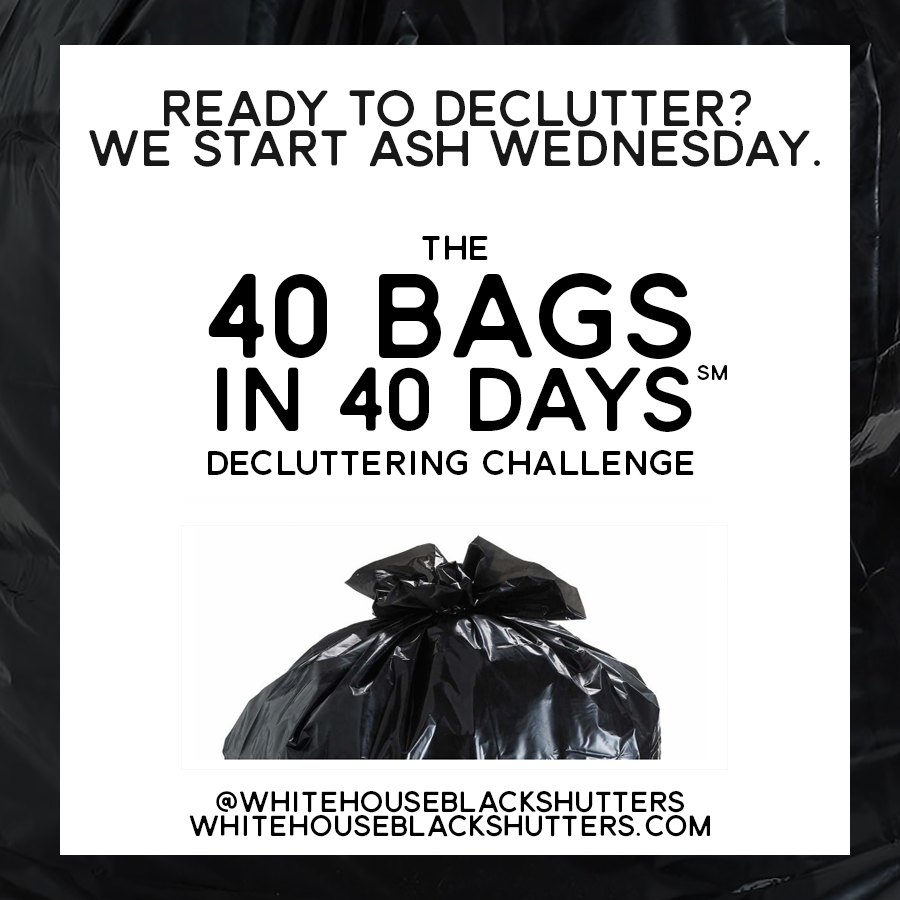 This is a graphic of Lucrative 40 Bags in 40 Days Printable